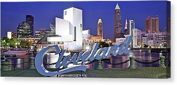 Williams River Canvas Print - Cleveland Ohio by Frozen in Time Fine Art Photography