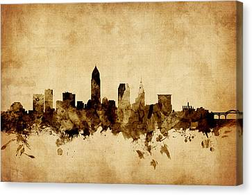 Cleveland Ohio Skyline Canvas Print by Michael Tompsett