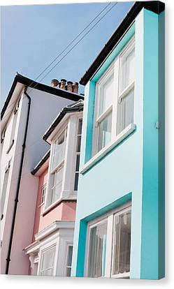 Ledge Canvas Print - Colorful Houses by Tom Gowanlock