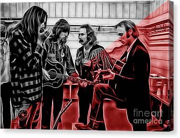 Crosby Stills Nash And Young Canvas Print