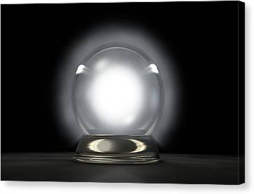 Crystal Ball Glowing Canvas Print by Allan Swart