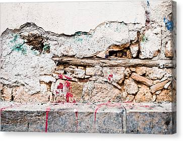 Defects Canvas Print - Damaged Wall by Tom Gowanlock