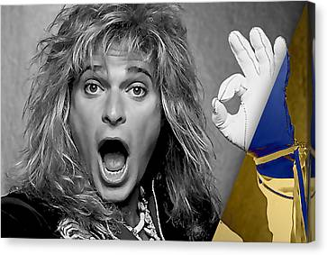 Celebrity Canvas Print - David Lee Roth Collection by Marvin Blaine