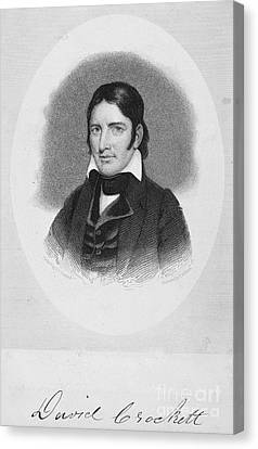 Davy Crockett (1786-1836) Canvas Print by Granger