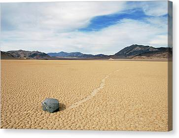 Canvas Print featuring the photograph Death Valley Racetrack by Breck Bartholomew