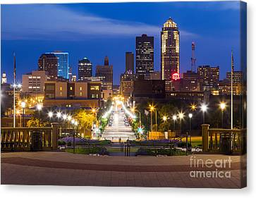 Des Moines From The State Capitol Canvas Print