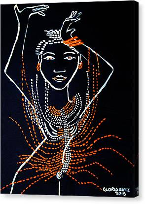 Dinka Diva - South Sudan Canvas Print by Gloria Ssali