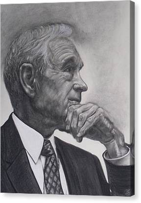 Dr. Ron Paul Canvas Print by Adrienne Martino