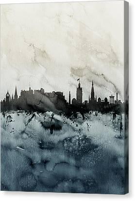 Edinburgh Scotland Skyline Canvas Print by Michael Tompsett
