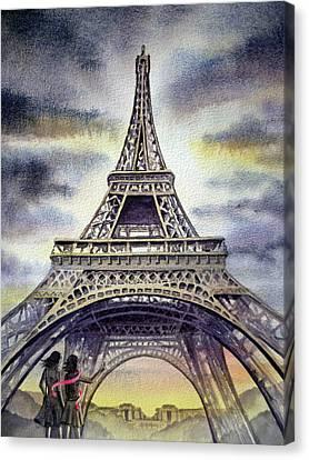 The Eiffel Tower Canvas Print - Eiffel Tower Paris by Irina Sztukowski