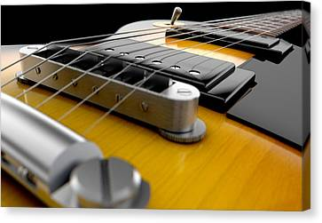 Electric Guitar Abstract Canvas Print