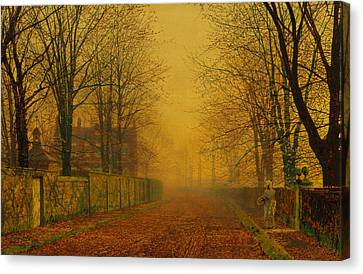 Evening Glow Canvas Print by John Atkinson Grimshaw