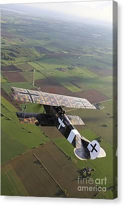 Fokker D.vii World War I Replica Canvas Print by Daniel Karlsson