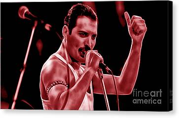 Pop Canvas Print - Freddie Mercury Collection by Marvin Blaine