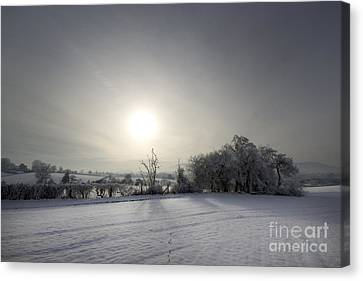 Frozen Britain Canvas Print by Angel  Tarantella