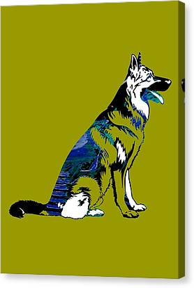 German Sheperd Collection Canvas Print by Marvin Blaine