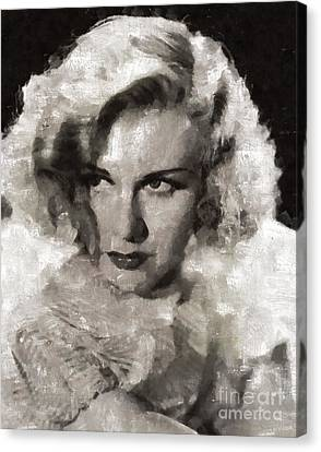 Ginger Rogers Hollywood Actress And Dancer Canvas Print by Mary Bassett