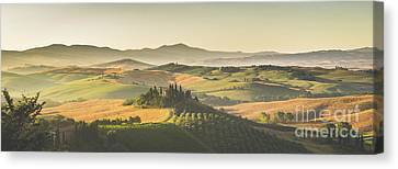 Golden Tuscany Canvas Print by JR Photography