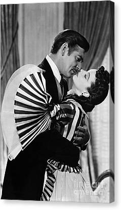 Celebrities Canvas Print - Gone With The Wind, 1939 by Granger
