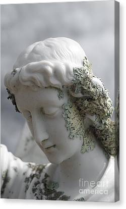 Canvas Print featuring the sculpture Grieving Angel by Yurix Sardinelly