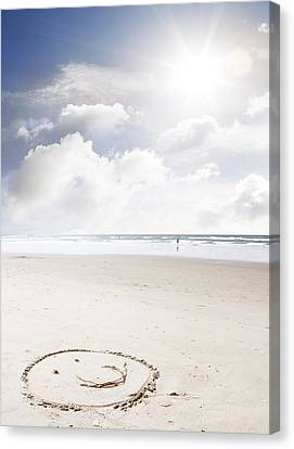 Happiness Canvas Print by Les Cunliffe