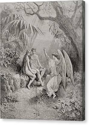 Illustration By Gustave Dore 1832-1883 Canvas Print