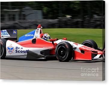 Indycar Open Wheel Racing Canvas Print by Douglas Sacha