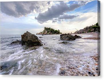 Isola Bella - Sicily Canvas Print by Joana Kruse