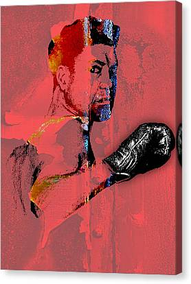 Boxer Canvas Print - Jack Dempsey Collection by Marvin Blaine