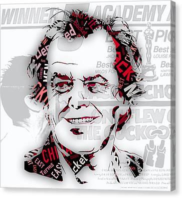 Jack Nicholson Movie Titles Canvas Print