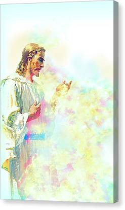 Jesus Christ Canvas Print by Elena Kosvincheva
