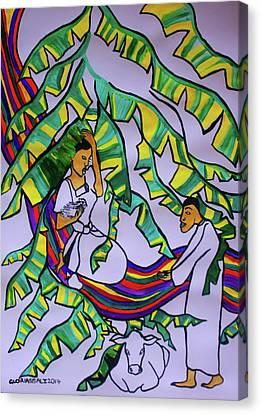 Kintu And Nambi A Ugandan Folktale Canvas Print by Gloria Ssali