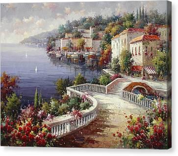 Lago Di Como Canvas Print by Lucio Campana