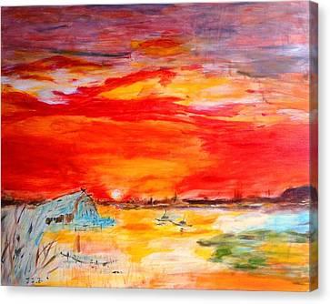 Landscape Pop Arts Canvas Print by J j Jin