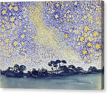 Landscape With Stars Canvas Print