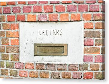 Letterbox Canvas Print by Tom Gowanlock