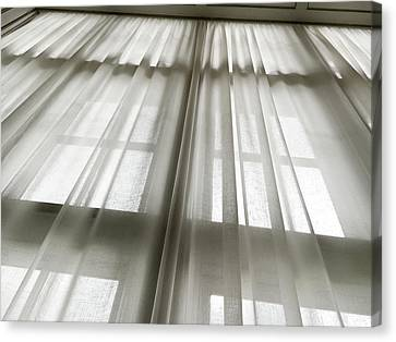Wavy Canvas Print - Linen Curtain by Tom Gowanlock