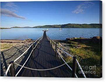 Loch Na Keal Canvas Print by Nichola Denny
