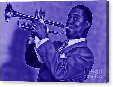 Louis Armstrong Collection Canvas Print by Marvin Blaine