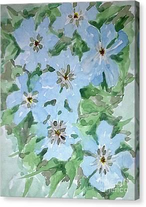 Love Flowers Canvas Print by Baljitchadha