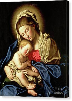 Madonna And Child Canvas Print