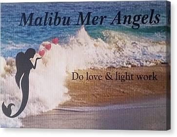 Malibu Mer Angels Canvas Print by Chrystyna Wolford
