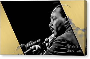 Martin Luther King Collection Canvas Print by Marvin Blaine