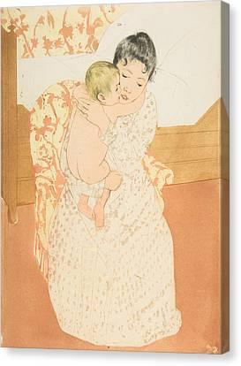 Maternal Caress Canvas Print