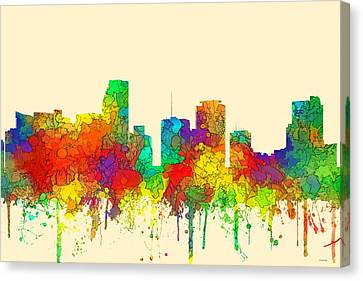 Miami Florida Skyline Canvas Print