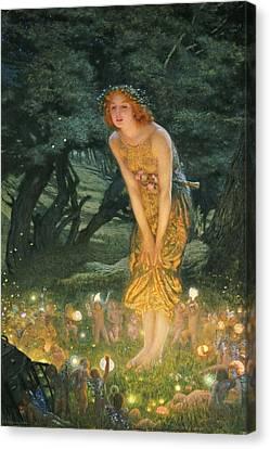 Midsummer Eve Canvas Print by Edward Robert Hughes