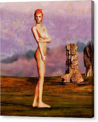 Nude Canvas Print by Esoterica Art Agency