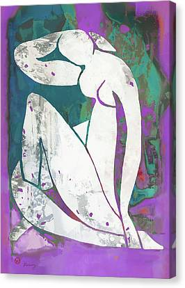 Nude Pop Art Poster Canvas Print