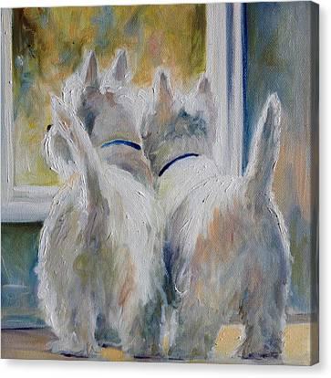 5 O'clock Canvas Print by Mary Sparrow