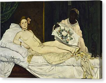 Olympia Canvas Print by Edouard Manet